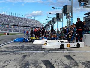 Yamaha Senior karts ready for practice Monday at Daytona