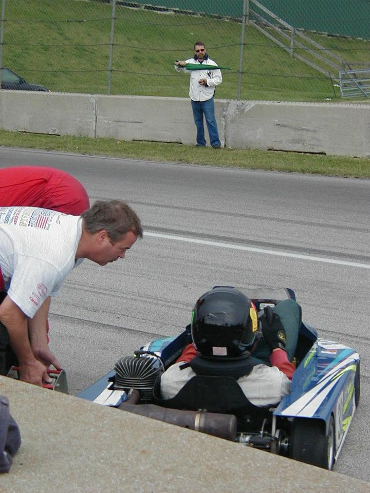 Ready for a WKA Sprint start at Mid-Ohio, 2002 or '03