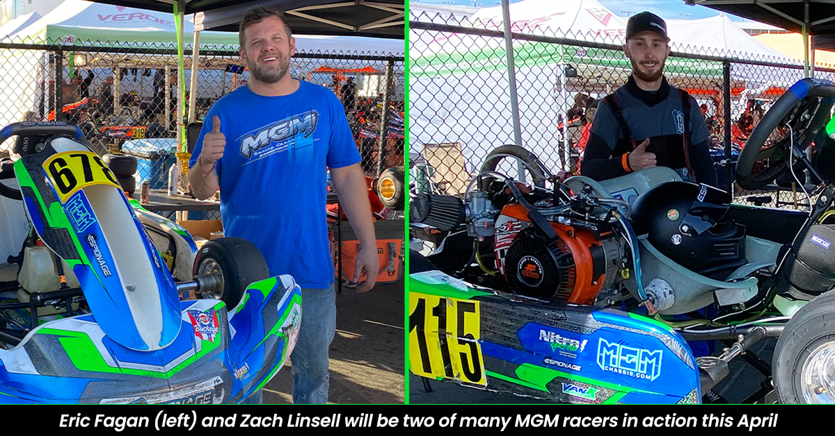 MGM Kart Racing Chassis drivers Eric Fagan and Zach Linsell