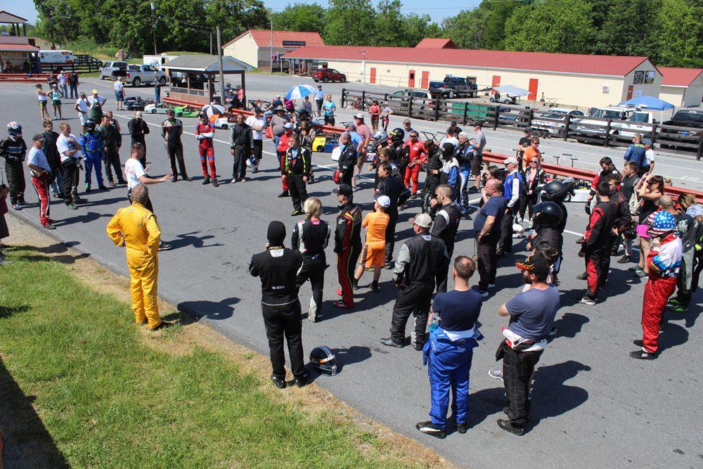 Briggs Sprint 380 Sunday drivers meeting