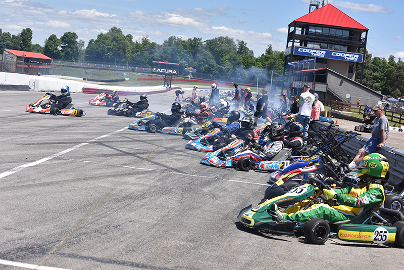 CIK 125 Shifter grid from a recent Mid-Ohio National (Bruce Walls photo)