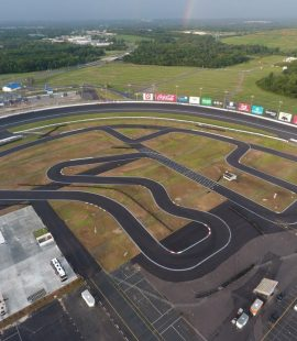 Aerial view of the recently renovated CMS Kart Track (CharlotteMotorSpeedway.com)