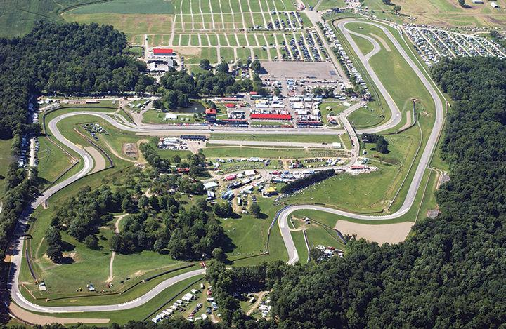Aerial view of the Mid-Ohio Sports Car Course