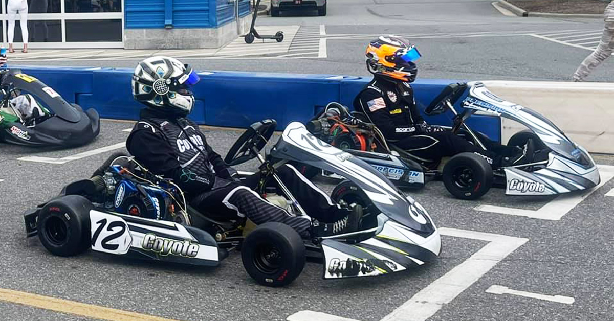 Chris Carrol (12) and Pauly Massimino on grid for the Briggs Sr pre-final Saturday (PPK photo)