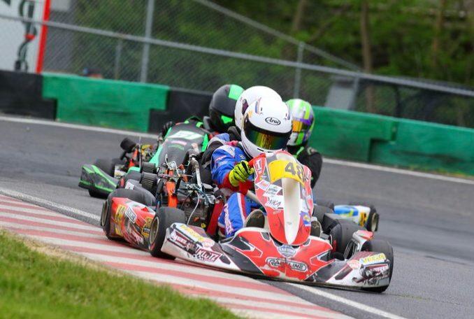Cup Karts North Junior points leader James Overbeck (Rocket Gear Media photo)