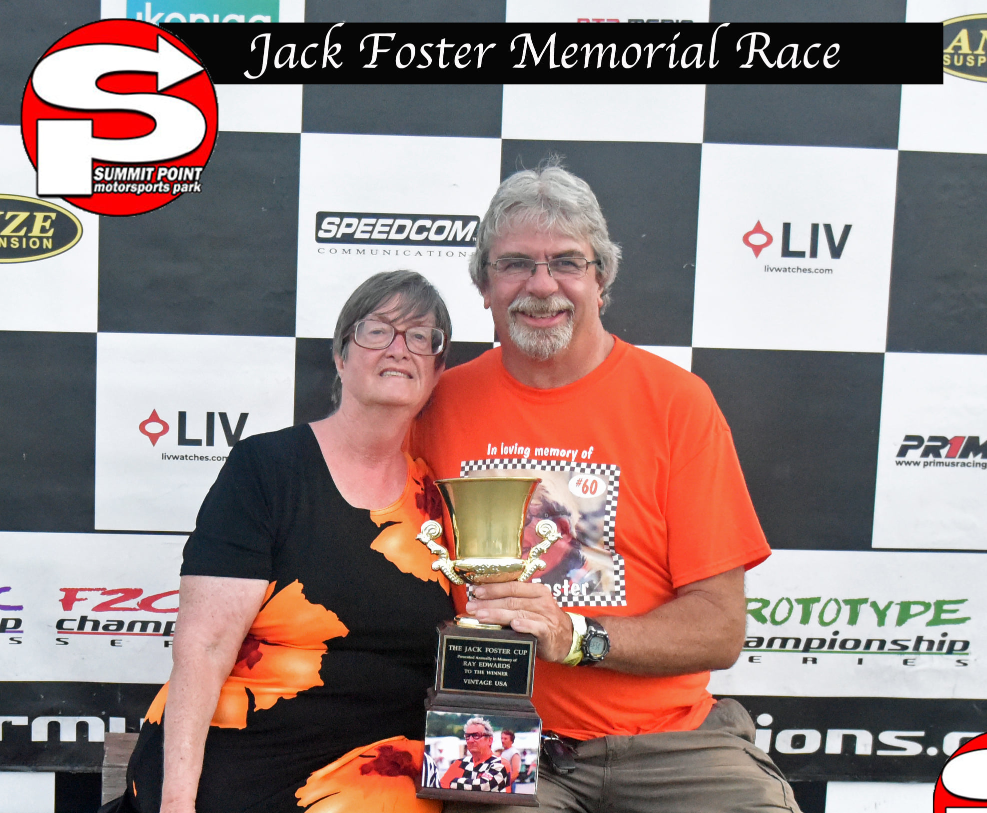 Isabell Foster with Vintage Euro winner Bill Anderson (Bruce Walls photo)