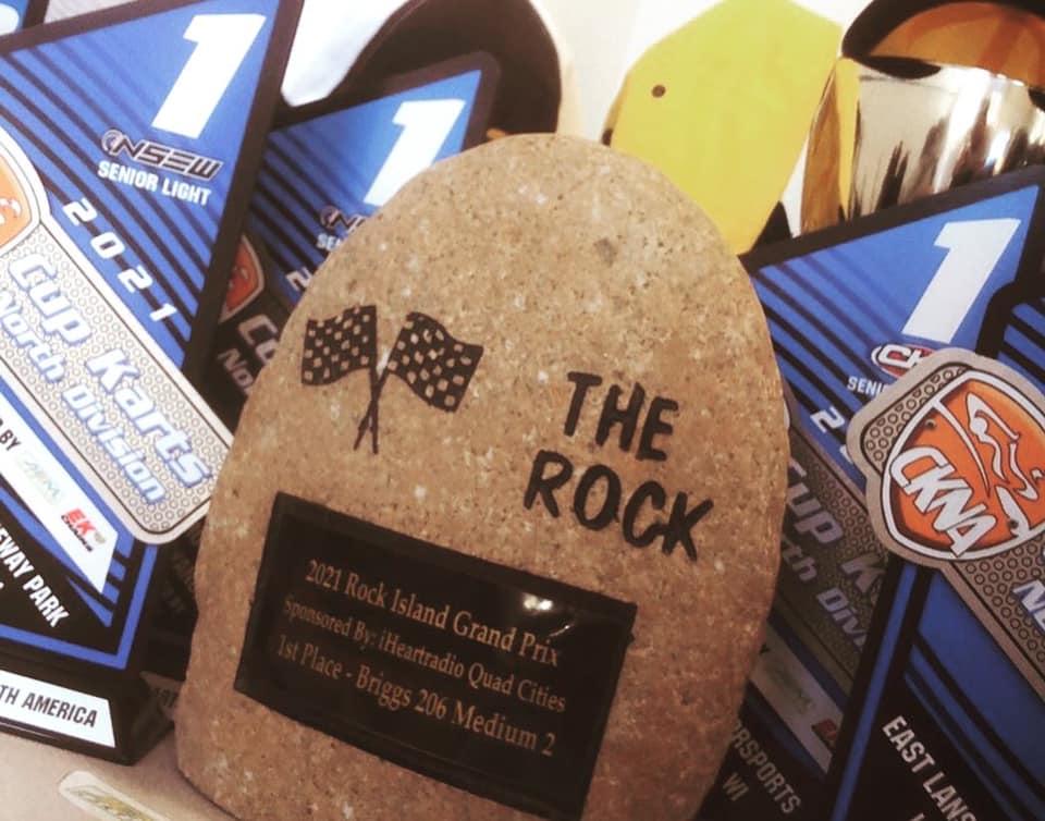 Mick Gabriel's latest award, the Sr Medium P1 Rock