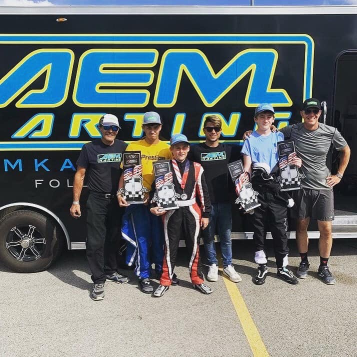 The AEM Karting team at Autobahn