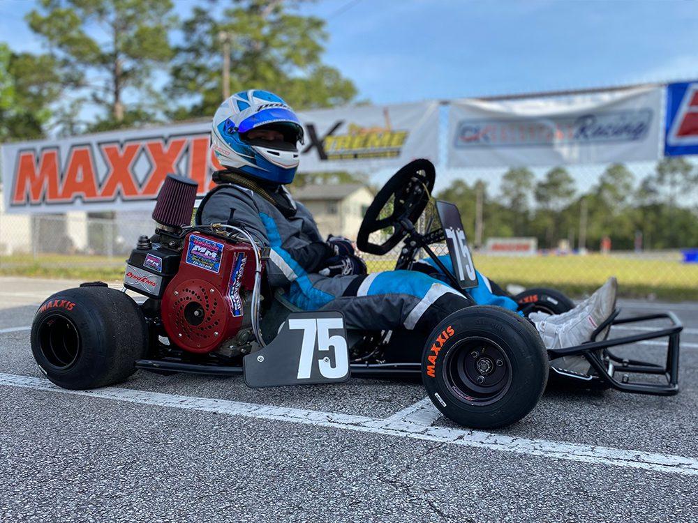 Tyler Swann on grid at the Jacksonville opener in April